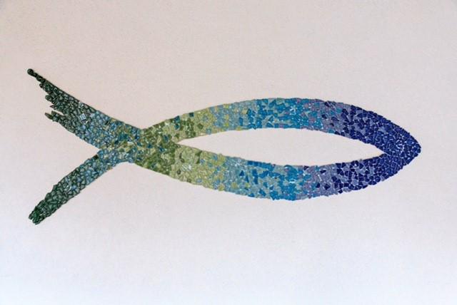 Mosaik, Fisch